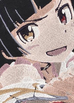 聖天使神猫刺繍パーカー刺繍upups