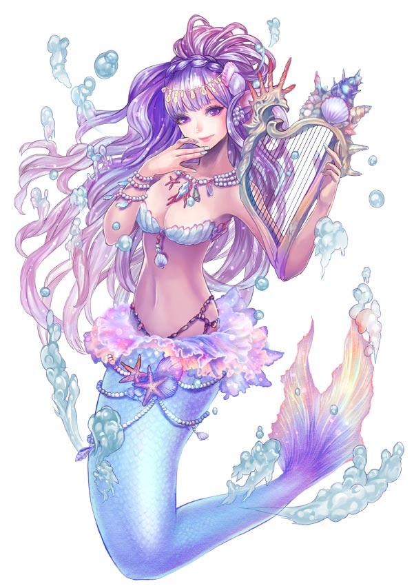 キャラクター紹介第5弾 タワー オブ プリンセス 憂いを帯びた美しい姫君 人魚姫 を紹介 萌えドロイド