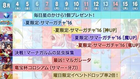 夏休み「逆転祭」第3弾のスケジュール